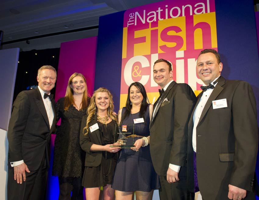 Pantrini's of Whitley Bay, Tyne & Wear Wins National Fish & Chip Awards 2013 - sponsored by Unique Seafood Ltd