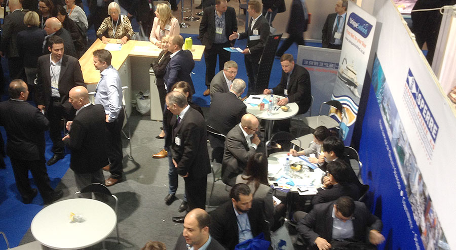 Unique Seafood's busy stand at Seafood Expo 2014 in Brussels