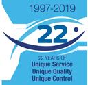 1997-2017 Twenty Years of Unique Service, Unique Quality, Unique Control